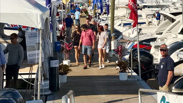 Bright Florida sunshine warmed visitors as they walked the docks at the St. Petersburg Power & Sailboat Show. The four-day event wrapped up on Sunday.