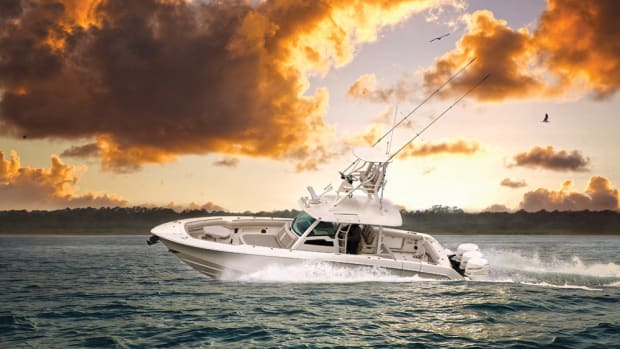 The Boston Whaler 380 Outrage was one of several center consoles from 30 to 41 feet that were introduced at the show.