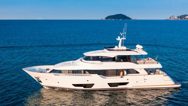 The Navetta 28 by Custom Line is one of eight new models the Ferretti Group is presenting at the Palm Beach International Boat Show.