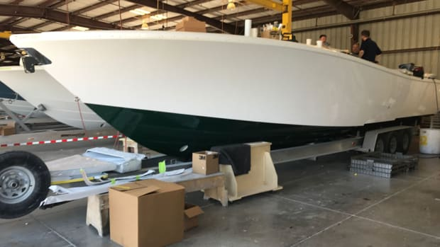 The 42 Offshore CE will be about 20 percent lighter than the conventional 42-foot Yellowfin.