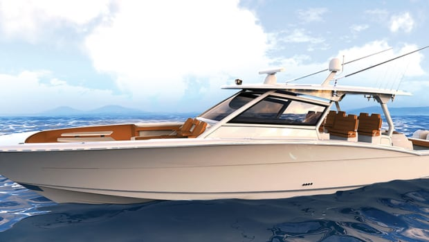 The Scout 530 LXF can be powered with up to five outboards.