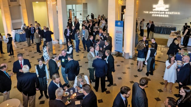 There's a lot of networking when the boating industry gathers each May in Washington, D.C.