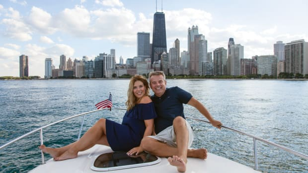 Blackwell believes that to sell boating you must be a boater. On almost any summer weekend he and girlfriend Dawn Baskin are out relaxing on Lake Michigan.