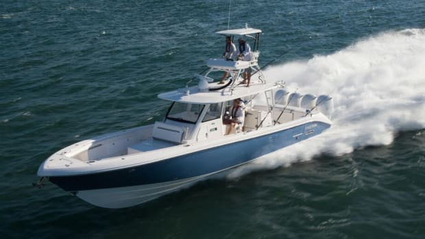 Everglades Boats took the 45-foot Everglades 435cc from a sketch to a finished product in six months.