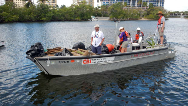 Nearly 2,000 volunteers participated in the Broward County Waterway Cleanup this year.