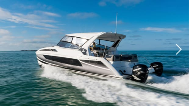 Aquila catamarans will be on display at the Aug. 3-7 Sydney show.