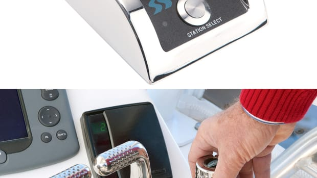 Twin Disc's Express Joystick System is designed to improve the maneuverability of a boat.