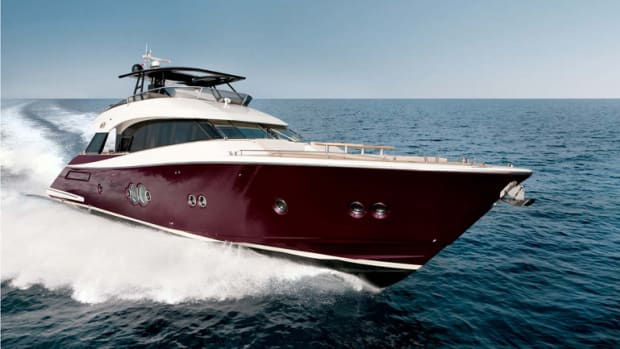 The Monte Carlo Yachts 76 will be the largest boat on display at the St. Petersburg Power and Sailboat Show.