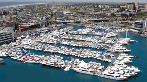 There will be about 200 boats for sale this year at the Newport In-Water Boat Show.