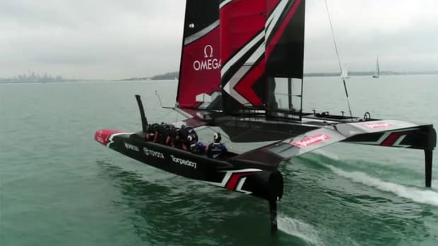 Forty of the workers who built the Emirates Team New Zealand boat have been laid off.