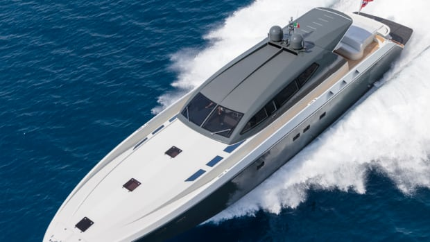 Otam's new yacht is powered by twin 2,600-hp diesels and has an estimated top speed of about 55 mph.