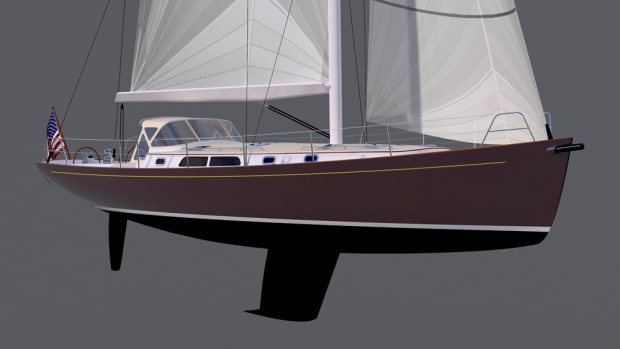 The Doug Zurn 52-foot concept sailboat is designed to be fast offshore cruiser.