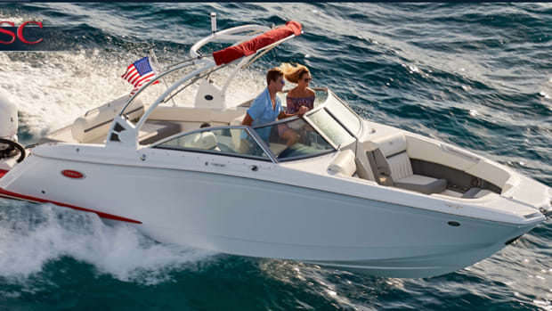 Cobalt Boats was an attractive acquisition for Malibu Boats, in part, because of the company's entry into the outboard segment. Show here is Cobalt's outboard-powered 25SC.