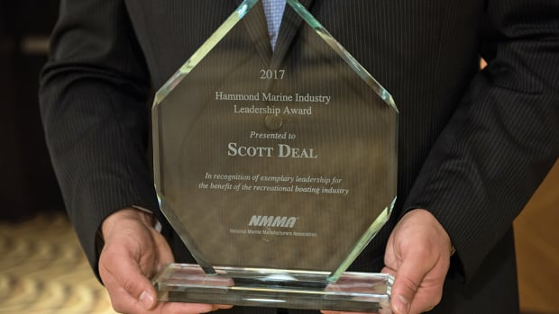 "Maverick Boats president Scott Deal was honored for his ""tireless efforts"" on behalf of saltwater fishing              regulatory reform."