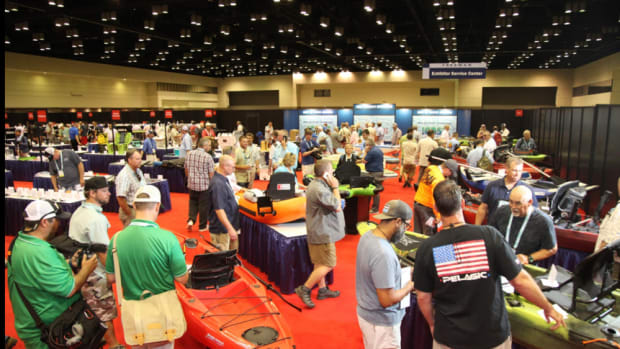 Product demonstrations, as shown at last year's ICAST, are a big draw for the annual fishing convention.