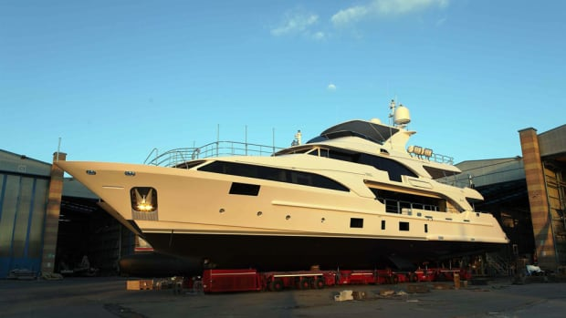 The Benetti Classic 121 Lady Lillian was launched May 18. The owner will take delivery in July.