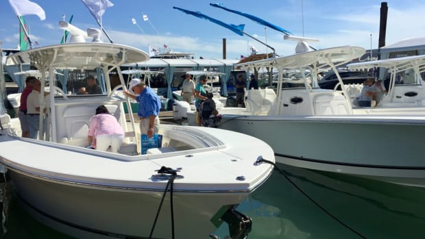 Sales of saltwater fishing boats such as this Regulator rose last year.