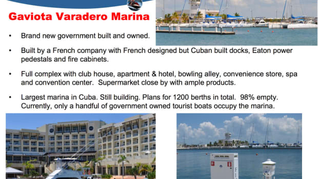 Gaviota Varadero Marina — a new marina built and owned by the Cuban government — is 98 percent unoccupied. Many marinas in Cuba are in disrepair and amenities are difficult to come by.
