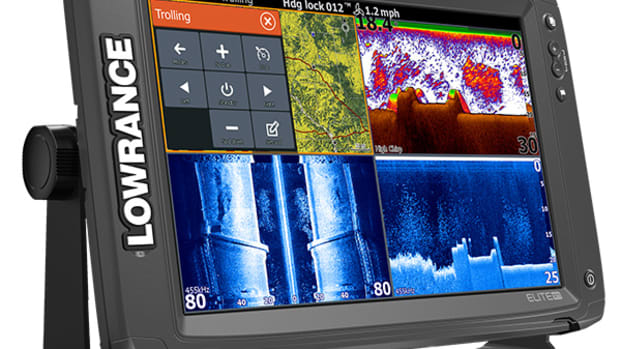 This is an image of the Elite-12 Ti, which Lowrance said it began to ship to consumers in March.