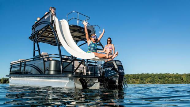 sliding-off-pontoon-boat-fun