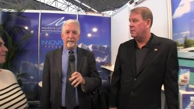 Seann Pavlik, Owner and Shuly Oletzky, Business Development Director, Innovative Products, discuss the company's iLatch Platinum series latches, which won an honorable mention during the Dame awards.