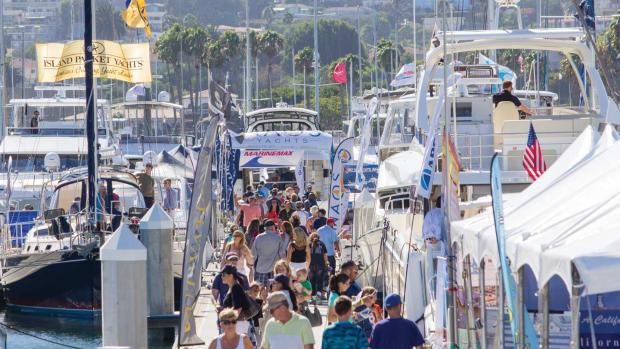 LA Boat Show docksA