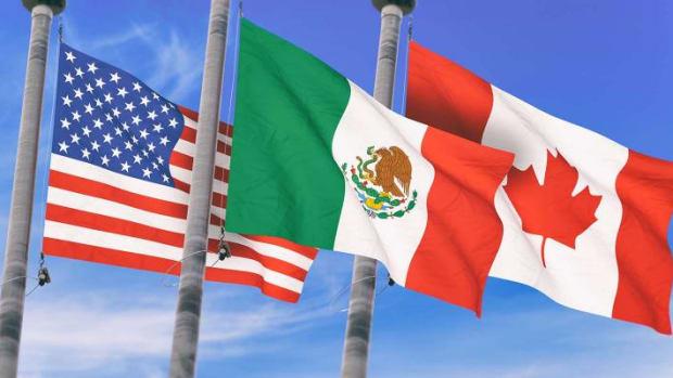 NAFTA-CanadaMexicoUSFlags
