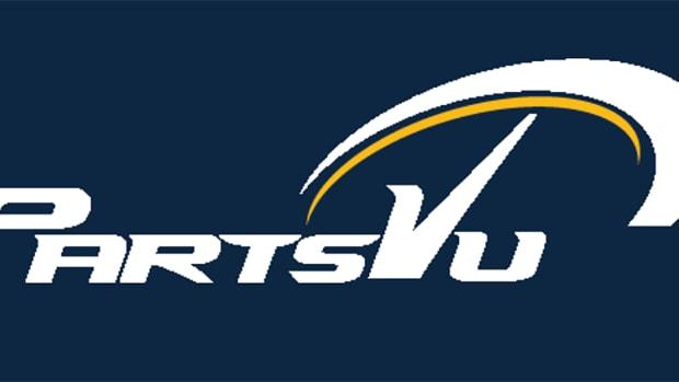 PartsVu Logo on blue