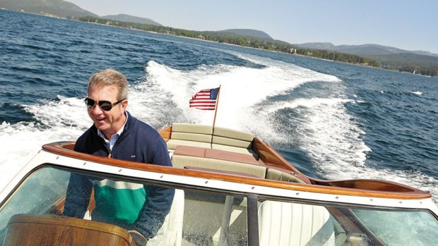 Jim McManus valued every moment of the time he was able to spend on the water. Here he takes a Talaria 29 for a spin.
