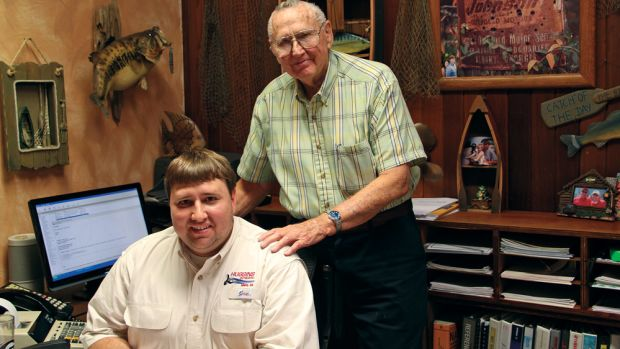 Bill Huggins and grandson Matthew Huggins are the second and fourth generations of the family to lead the Georgia dealership.