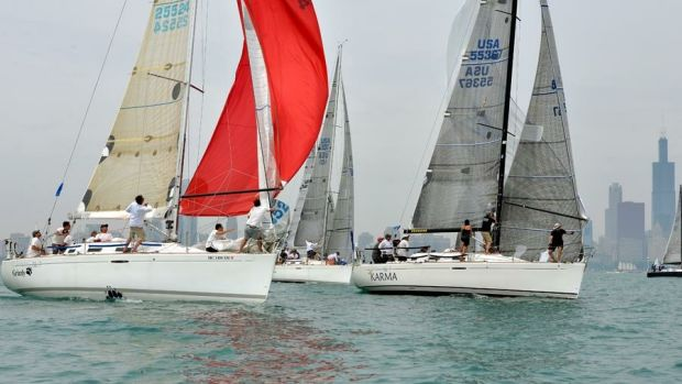 The Karma Sailing Group (at right) won its eighth Chicago Yacht Club Race to Macki-nac in its section.