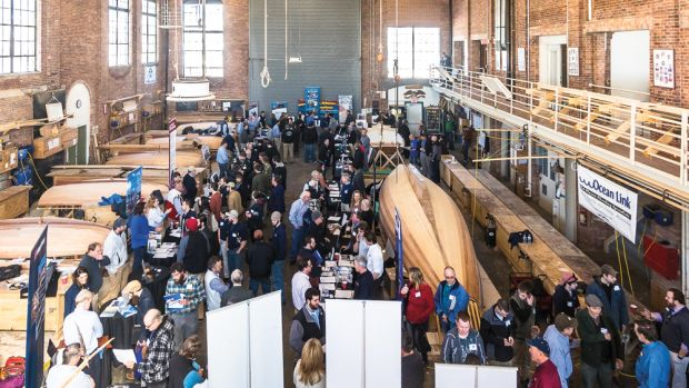 Forty-seven companies from seven states and about 200 potential employees crowded a marine industry job fair in Newport, R.I., in early March.