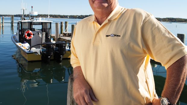 Capt. Joseph Frohnhoefer Jr. founded Sea Tow Services International in 1983. Sea Tow now has 600 U.S. and international franchises. Its distinctive yellow boats are ubiquitous on heavily used waterways.