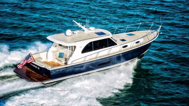 Grand Banks will debut the East Bay 44 at the fall boat shows.