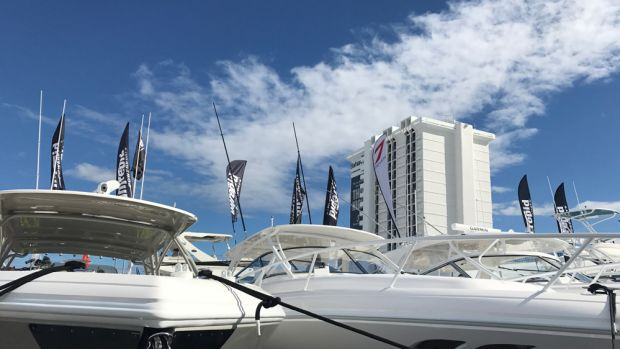 """This year's Fort Lauderdale International Boat Show was the largest in the event's history. """"There was a lot of new product out there,"""" Show Management CEO Efrem """"Skip"""" Zimbalist III said."""