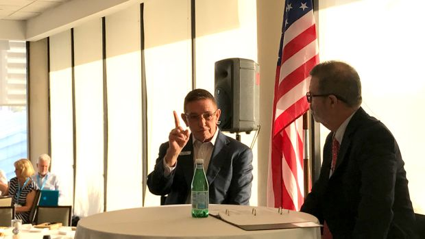 Soundings Trade Only editor-in-chief Bill Sisson conducted a question-and-answer session with MarineMax CEO Bill McGill at the marine industry breakfast this morning at the Bahia Mar in Fort Lauderdale.