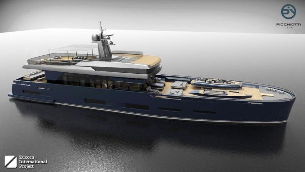 The PY Heritage 45 M is a concept project that Picchiotti is presenting to its customers.