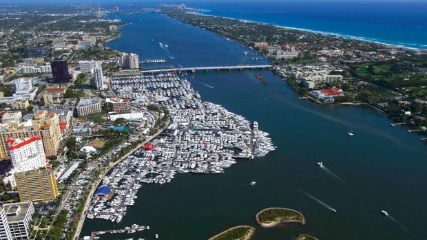 Whether you were on the water or being propelled above it, there was plenty to see at the Palm Beach International Boat Show.