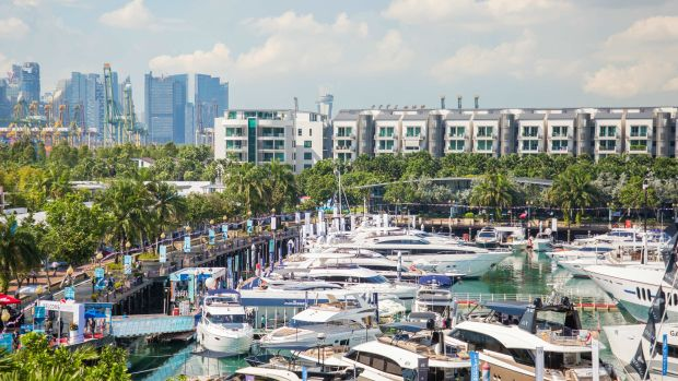 There were 94 yachts on the water at the Singapore Yacht Show, which was held at One 15 Marina at Sentosa Cove.