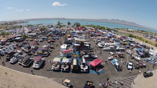 Near-perfect weather helped bolster the crowds at the Lake Havasu Boat Show.