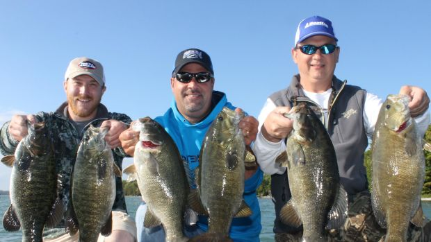 """Contestants in the BoatUS """"Best Catch"""" Photo Contest are competing for a chance to fish for a day with former pro angler and fishing personality Mark Zona (center)."""