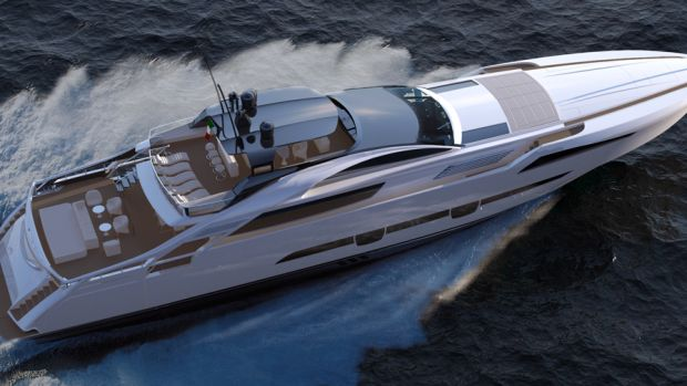 The Pershing 140 is expected to debut in 2018.