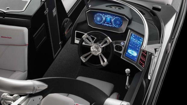 Many of the design elements in 2018 MasterCraft boats are borrowed from luxury automobiles.