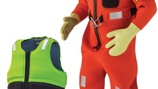 Kent Safety Products makes life jackets and full-immersion suits.