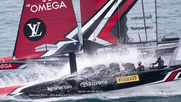 Emirates Team New Zealand wins 35th America's Cup. Photo by Sander van der Borch.
