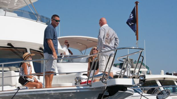 Perfect weather kept the docks busy for the show's four-day run.