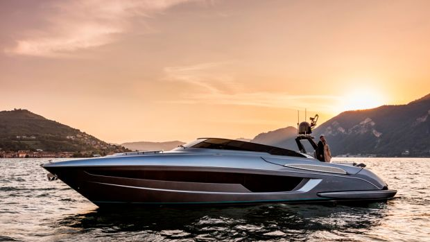 Riva's new 56' Rivale is powered with twin 1,000-hp or 1,200-hp MAN engines with V-drive inboards.
