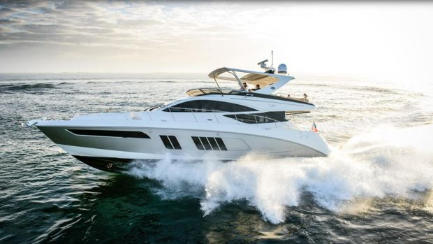 Sales of larger sterndrive and inboard boats like this L650 Fly dipped at Brunswick Corp., prompting furloughs and layoffs.