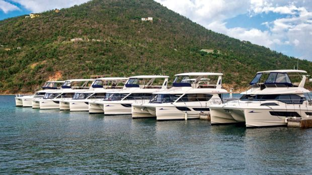 lineup-of-boats-caribbean