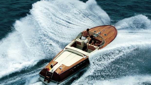 The Ferretti Group will showcase two historic Aquarama models, including this Aquarama Super, to honor Carlo Riva, who died in April, at the inaugural Versilia Yachting Rendezvous in Italy.